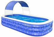 Inflatable Swimming Pool For Kids And Adults Family Kiddie Blow Up Swim Pools
