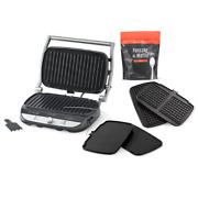 Pampered Chef Deluxe Electric Grill And Griddle Set Free Shipping