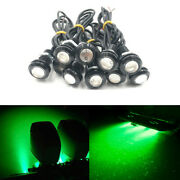 10pcs Green 9w 12v Underwater Led Drain Plug Light Waterproof Fit For Boat Parts