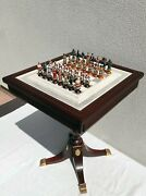 Franklin Mint's The Raj Chess Set/ Perfect With Extra Pieces And Documents