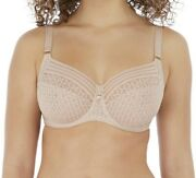 Freya Viva Lace Bra Natural Beige Size 36f Underwired Full Cup Side Support 5641