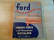 Original 1949-1954 Ford Passenger Car Chassis Parts And Accessories Catalog Trog