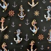 Anchored Multi Black By Alexander Henry Fabrics 100 Nautical Anchors Compass