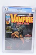 1974 Marvel Vampire Tales 5 Cgc 8.0 Graded White Pages Count Yorga Maroto