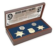 Old West Boxed Badge Collection Rare Replica Collection Great Gift