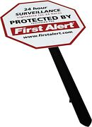 First Alert Video Security Surveillance Yard Sign - With Yard Stake