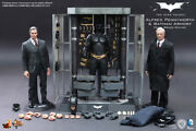 1/6 Hot Toys Mms236 The Dark Knight Batman Armory With Bruce Wayne And Alfred Set