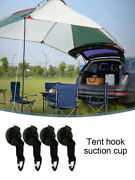 Car Tent Suction Cup Hook, 4/8pcs A Set Suction Cup Hookwith Securing Hook Tents