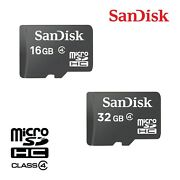 Sandisk Micro Sd Card 16gb 32gb Memory Class 4 For Tablets Drones Wholesale Lot