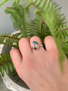 Oyster Coper Turquoise Ring Solid 925 Sterling Silver Best Gift Gemstone Jewelry