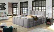 Box Spring Bed Hotel Bed Box Double Bed Luxusbett Complete Bed Grey Gustavo
