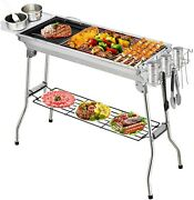 """30""""x 14"""" Portable Barbecue Charcoal Grill Outdoor Cooking Camping Picnic New"""
