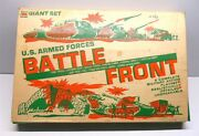Vintage Battle Front Giant Playset Military U.s. Armed Forces Toy Box And Set