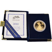 2010-w American Gold Eagle Proof 1 Oz 50 In Ogp