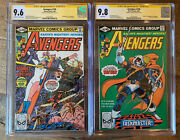 Avengers 195 Cgc 9.6 And 196 Cgc 9.8 First Taskmaster Signed Perez