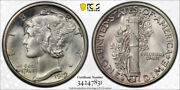 1919 S 10c Mercury Dime Pcgs Ms 65 Uncirculated Cac Approved Stunning Coin
