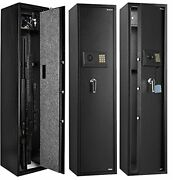 Gun Safes For Rifles And Shotgunsextra Long Storage Cabinet Deeper Cushioned ...