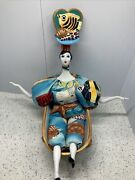Poupee Millet Doll By Isabelle Beach Theme With Bath Tub Vintage 2001 No Chips