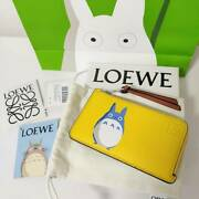 Sold Out Loewe Totoro Collaboration Coin Card Holder Yellow Ghibli Case Purse