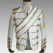 Mens Sequins Shiny Performance Customes Stand Collar Coats Slim Fit Jackets Hot