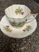 Royal Victoria Fine Bone China Cup And Saucer.