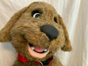 Professional Blinking Blue Eyes Dog Ventriloquist Puppet Doll - Virtually New