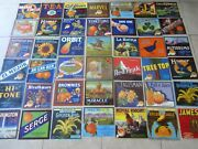 Lot Of 42 Old Vintage - Orange Crate Labels - California - All Different
