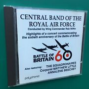 Battle Of Britain 60 Anniversary 20-bit Military Cd Central Band Raf Rob Wiffin