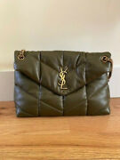 Authentic Ysl Saint Laurent Medium Loulou Puffer Bag Anemone Green Sold Out