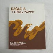 Eagle-a Onionskin Typing Paper Vintage 450 Cockle Sheets 8.5 X 11 Aged White