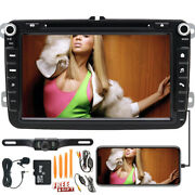 8 Car Stereo Radio Gps 8 Dvd Touch 2din For Vw Jetta Golf Eos Wireless Camera