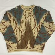 Vintage Coogi Linen Cotton Knitted Sweater Size Medium Made In Australia No765