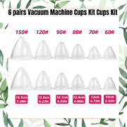 Vacuum Breast And Butt Lifting Machine 6 Pairs Replacement Cup Kits With Hose