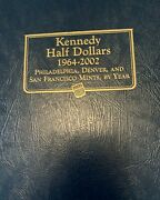 Whitemanalbum 112 Coin's 1964-2003 P,d,s Kennedy Half Dollar Silver Andproof Set