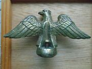 Parts Or Repair Vintage United American Brass Eagle For Clock Top
