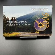 2006 U.s. Mint Westward Journey Nickel Series Coin Set Complete Box And Coa