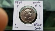 1979-p Wide Rim Near Date Susan B. Anthony Dollar Awesome Variety.