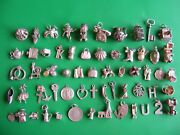 T Vintage Sterling Silver Charms Charm Bell Chim Car Cherub Horse Shoe Boot H