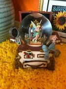 Tinkerbell With Hidden Jewelry Chest Musical Snowglobe 6x8 Very Well Maintained
