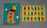 Vintage Lauri Crepe Foam Puzzles 2147 Clown And 2120 Kids ..lot Of 2 W/box