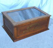 Antique Humphrey's Specific Remedies Advertising Country Store Oak Display Cabin