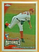 Stephen Strasburg Rc 2010 Topps Chrome Rookie Card 212 Mint From Pack