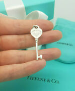 Return To And Co. Rare Heart Key Pendant Or Charm In Sterling Silver