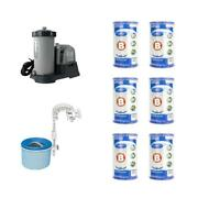 Sand Pool Pump Automatic Skimmer And Pool Filters With Wall Mount 0 Sq Ft 6 Pack