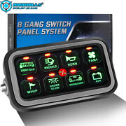 Car 8 Gang Switch Panel On-off Led Switch Panel Circuit Control Relay System Us