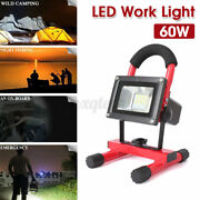 3200lm 60w Led 18650 Rechargeable Work Light Stand Craftsman Flashlight