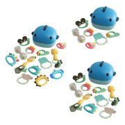 Baby Teether Rattles Shaking Bell Grab Spin Rattles Teething Bath Toys