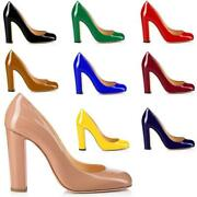 Womens Shoes Round Toe Pumps Chunky Heels Ladies Party Clubwear Dress Shoes Size