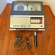 Rca Yjs-20e Portable Reel To Reel Player Recorder W/ Microphone Power Cord Works