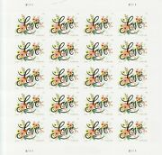 Love Flourishes Stamp Sheet -- Usa 5255 Forever 2018 Love Series